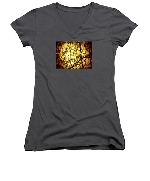 Women's V-Neck T-Shirt (Junior Cut) featuring the photograph Crip L by Robin Coaker