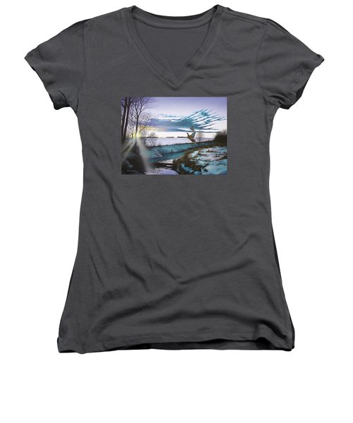 Crisp Winter Light Women's V-Neck