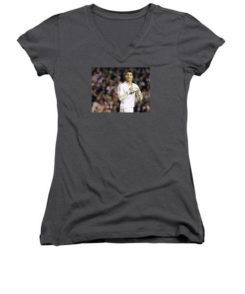 Cristiano Ronaldo 4 Women's V-Neck T-Shirt