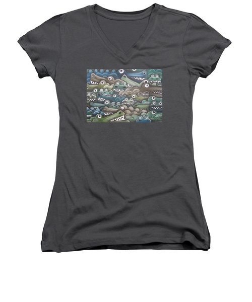 Crocodile Soup Women's V-Neck T-Shirt