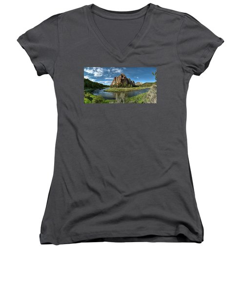 Crooked River And Smith Rock Women's V-Neck