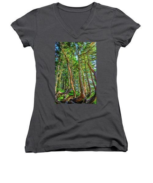 Crooked Trees Of Mt Roberts Women's V-Neck