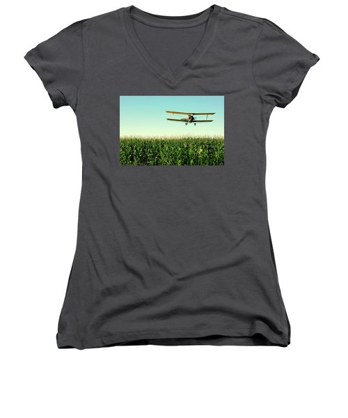 Crops Dusted Women's V-Neck