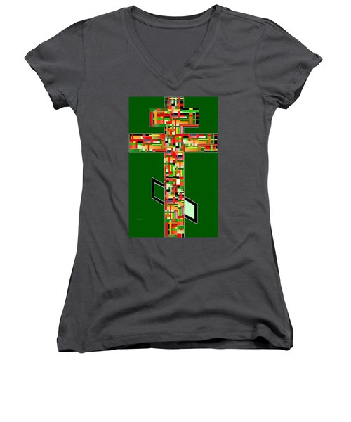 Cross No.2 Women's V-Neck (Athletic Fit)