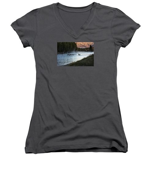 Crossing The River Women's V-Neck