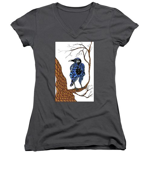 Crow Women's V-Neck (Athletic Fit)