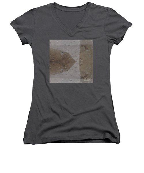 Crown  Women's V-Neck T-Shirt (Junior Cut) by Nora Boghossian