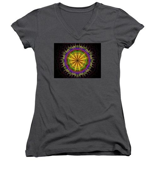Crown Of Thornes Women's V-Neck T-Shirt (Junior Cut) by Ernst Dittmar