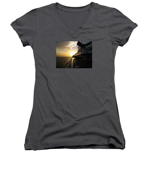 Cruisin' At Sunset Women's V-Neck T-Shirt