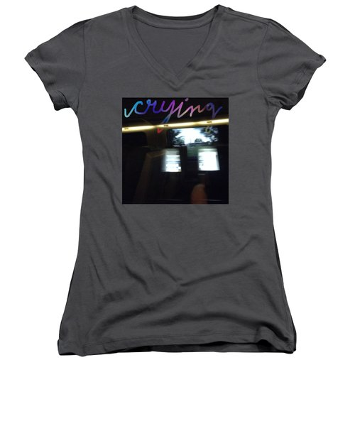 Crying Women's V-Neck T-Shirt