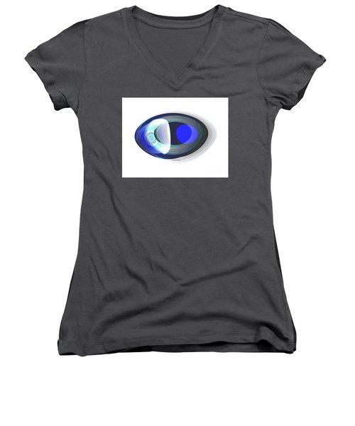 Crystal Eye Women's V-Neck T-Shirt (Junior Cut) by Thibault Toussaint