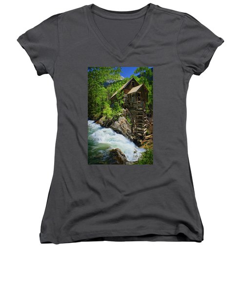 Crystal Mill Women's V-Neck (Athletic Fit)