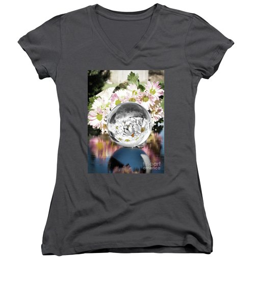 Crystal Reflection Women's V-Neck T-Shirt