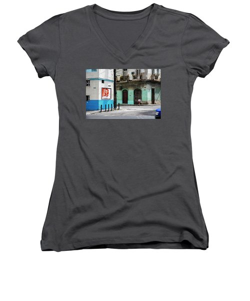 Cuban Icons Women's V-Neck (Athletic Fit)