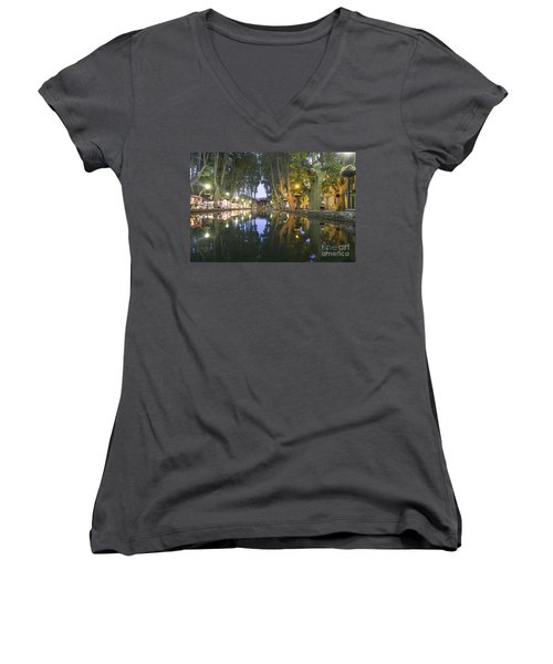 Women's V-Neck featuring the photograph Cucuron Village Provence  by Juergen Held