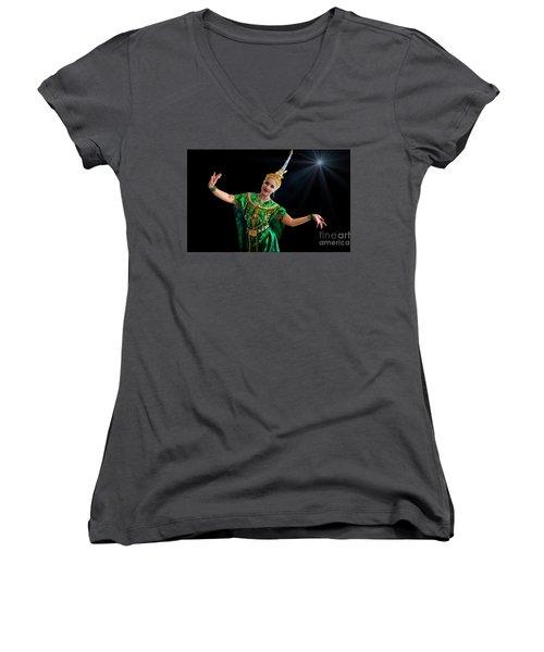 Cultural Thai Dance Women's V-Neck T-Shirt