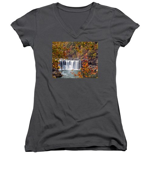 Cumberland Falls Two Women's V-Neck (Athletic Fit)