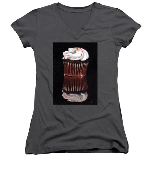 Cupcake Reflections Women's V-Neck (Athletic Fit)