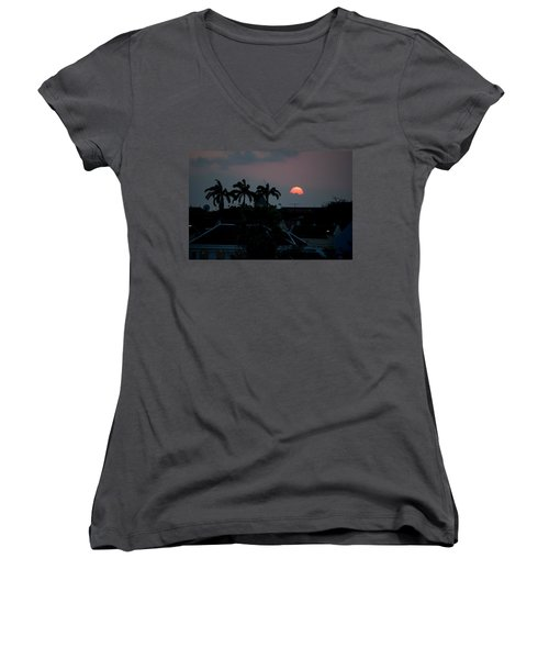 Curacao Sun Rise Women's V-Neck (Athletic Fit)