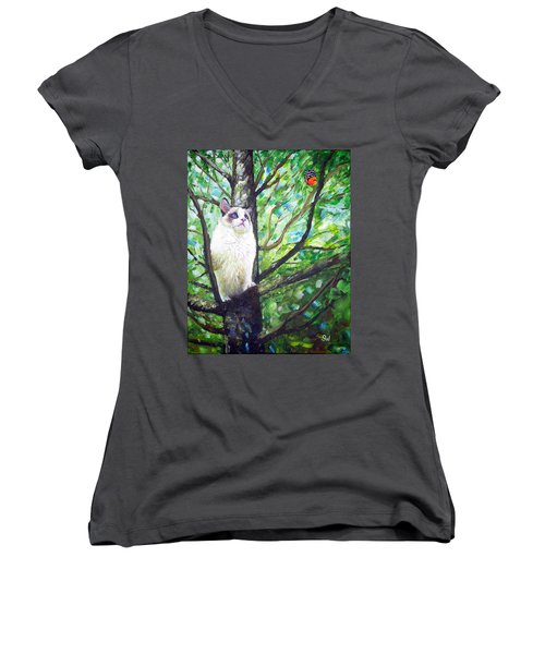 Curious Cat Women's V-Neck
