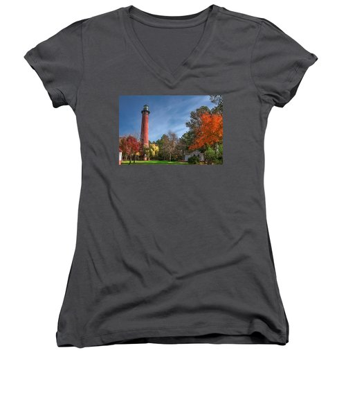 Currituck Lighthouse  Women's V-Neck