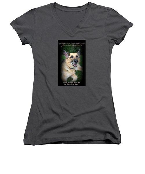 Custom Paw Print Cavot Women's V-Neck T-Shirt