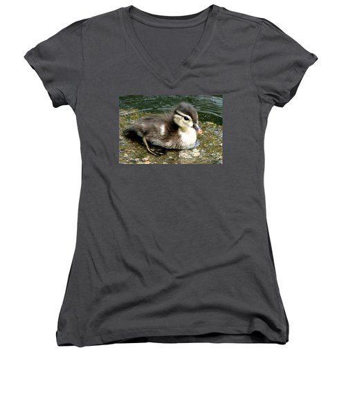 Cute Woody Women's V-Neck T-Shirt (Junior Cut)