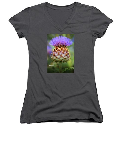 Cynara Cardunculus. Women's V-Neck (Athletic Fit)