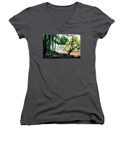 Cypress Knees Women's V-Neck