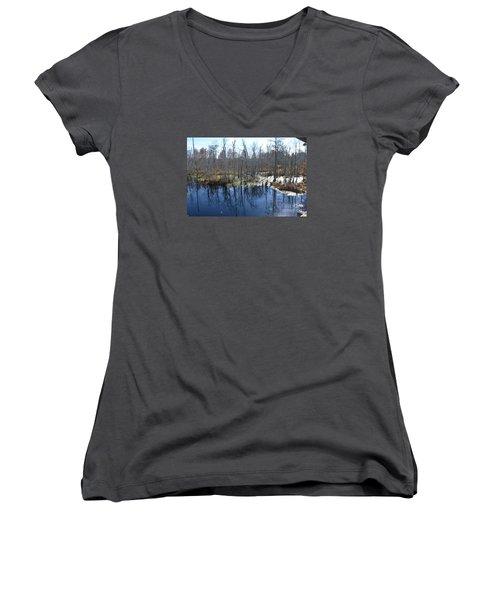 Cypress Swamp Women's V-Neck T-Shirt
