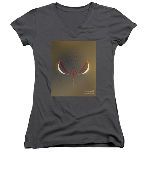 Da Vinci Spider Women's V-Neck T-Shirt