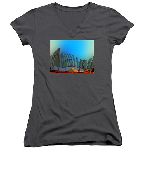 Da Vinci's Outpost Women's V-Neck T-Shirt