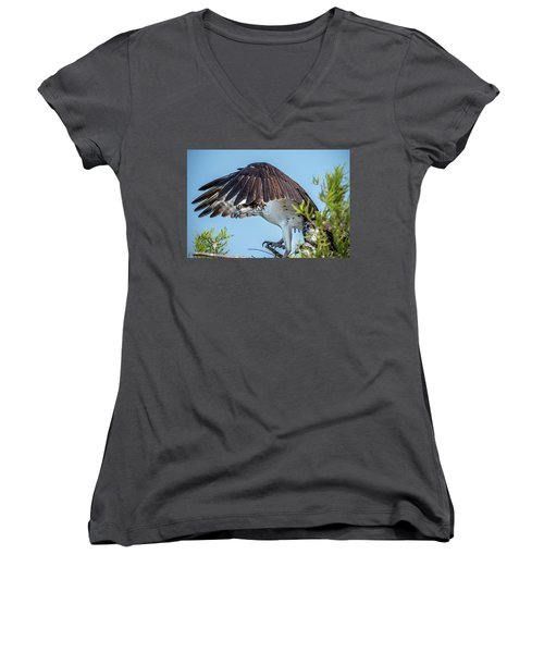 Daddy Osprey On Guard Women's V-Neck (Athletic Fit)