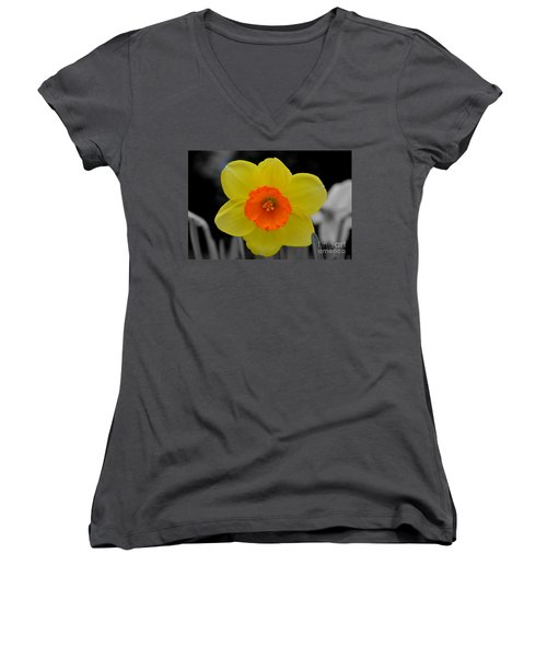 Daffodil Delight  Women's V-Neck (Athletic Fit)
