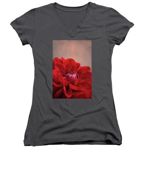 Dahlia Dalliance  Women's V-Neck T-Shirt