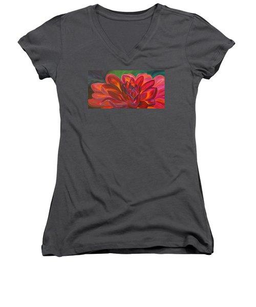 Dahlia Women's V-Neck T-Shirt
