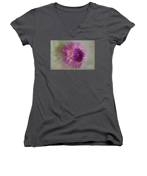 Dahlia Dream Women's V-Neck