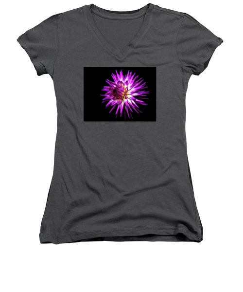Dahlia Starburst Women's V-Neck (Athletic Fit)