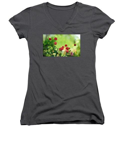 Dahlias Women's V-Neck T-Shirt