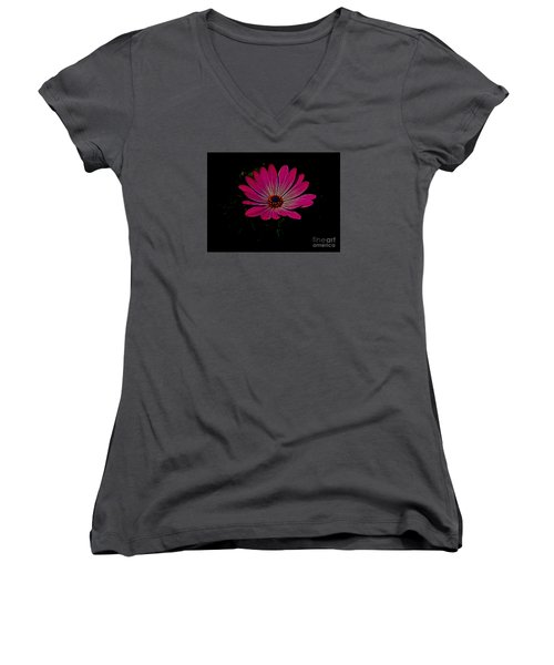 Daisy Flower Women's V-Neck (Athletic Fit)