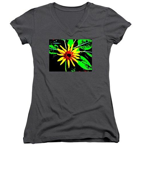 Daisy Women's V-Neck T-Shirt (Junior Cut) by Tim Townsend