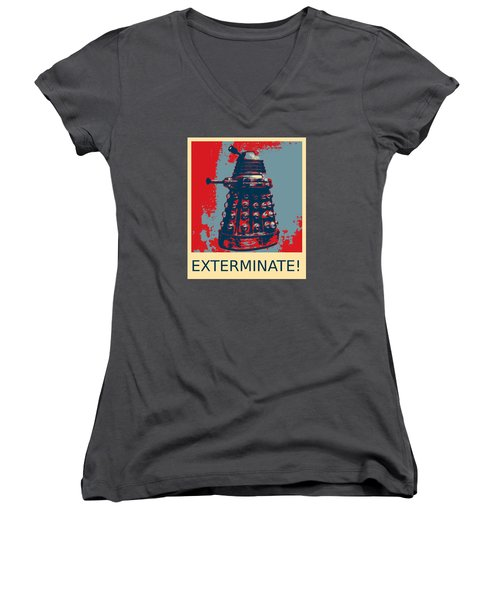 Dalek - Exterminate Women's V-Neck (Athletic Fit)
