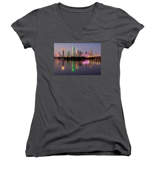 Dallas City Reflection Women's V-Neck