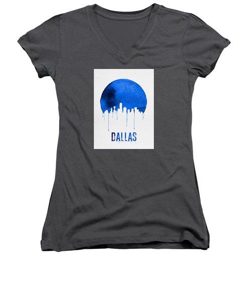 Dallas Skyline Blue Women's V-Neck T-Shirt