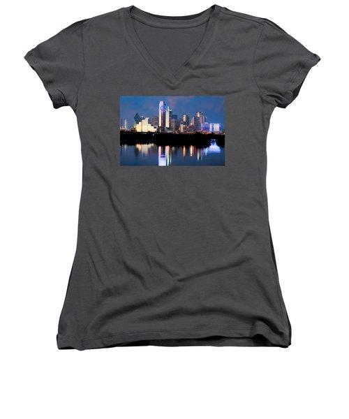 Dallas Skyline May 2015 Women's V-Neck