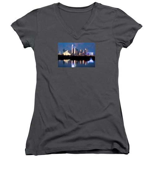 Dallas Skyline May 2015 Women's V-Neck (Athletic Fit)