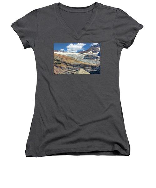 Daly Glacier And Yoho National Park Adventure Women's V-Neck (Athletic Fit)