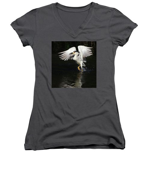 Dance On Water. Women's V-Neck (Athletic Fit)