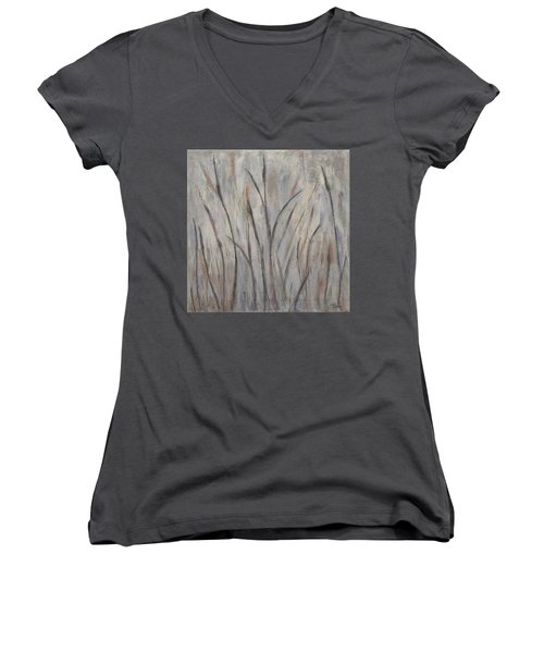 Dancing Cattails 2 Women's V-Neck (Athletic Fit)
