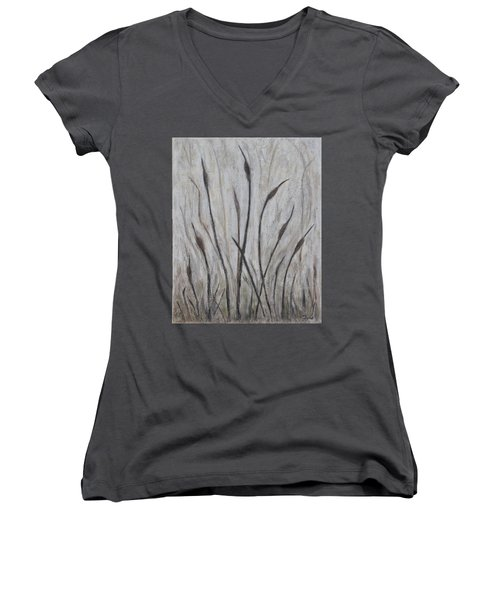 Dancing Cattails 3 Women's V-Neck (Athletic Fit)